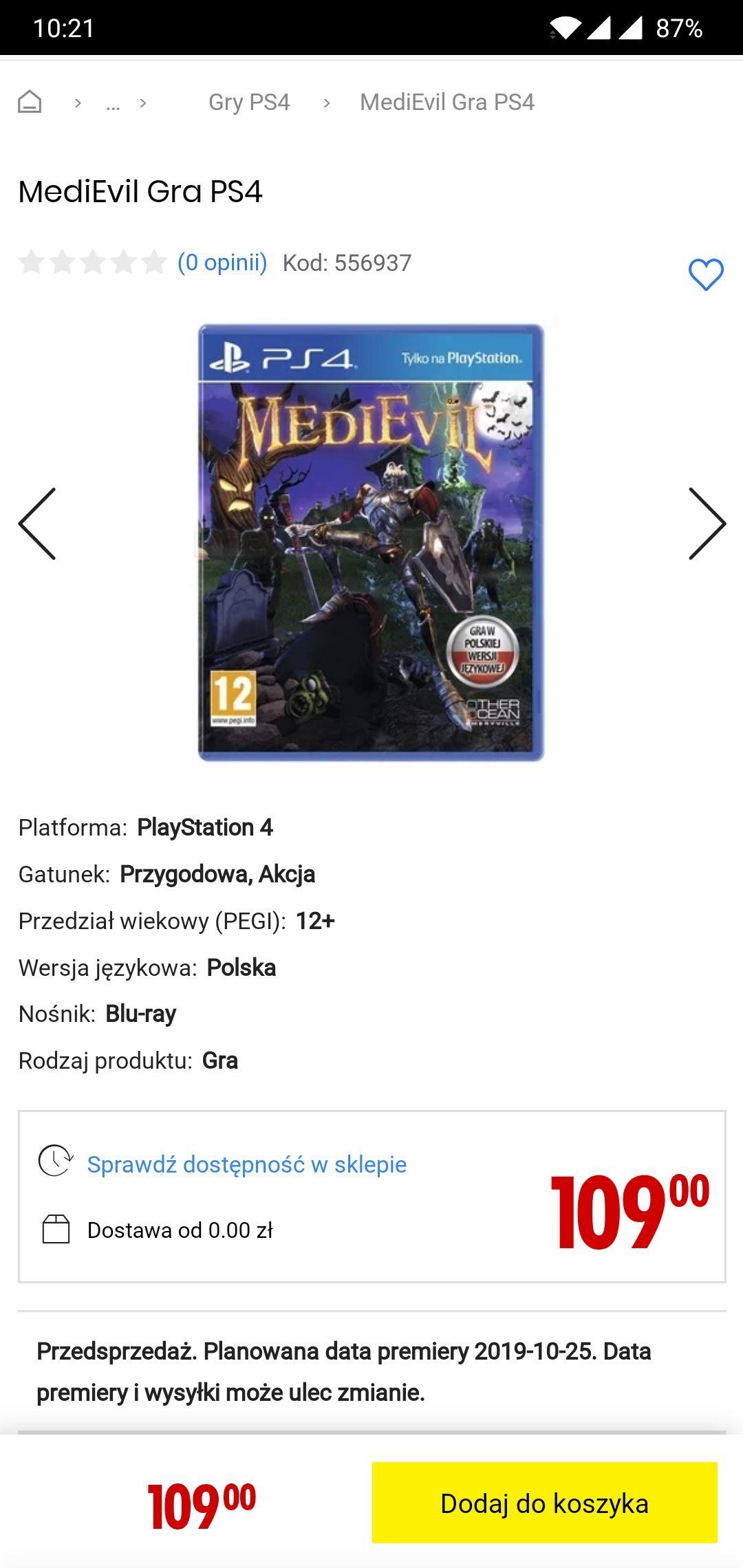 MediEvil na PS4 - najtaniej do tej pory