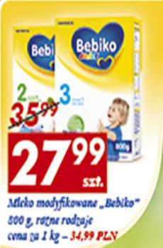 Mleko Bebiko 800g za 27,99zł @ Auchan