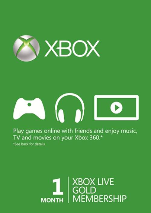 Miesięczne członkostwo Xbox Live Gold