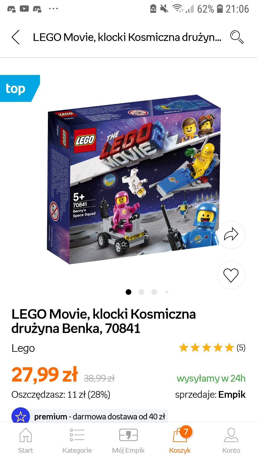 LEGO Movie, klocki Kosmiczna drużyna Benka, 70841