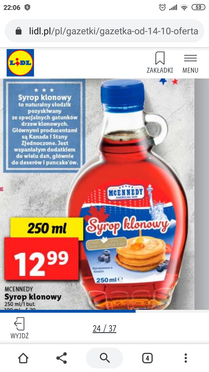 Syrop klonowy Mcennedy 250 ml@Lidl