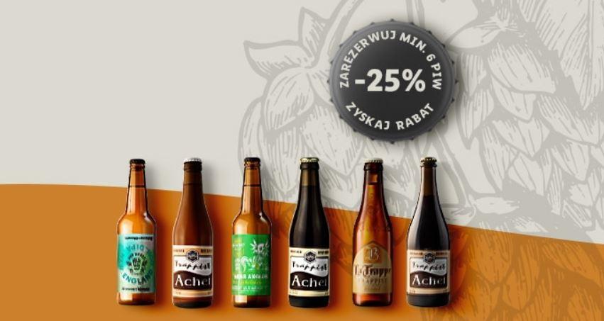 25% rabatu na piwo (przy rezerwacji min. 6 butelek) @ Winnica Lidla