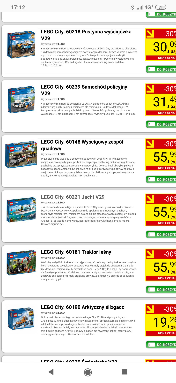 -30% na LEGO city na aros.pl