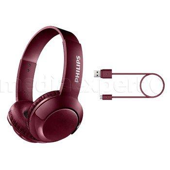 Słuchawki nauszne PHILIPS SHB3075RD Czerwone @mediaexpert
