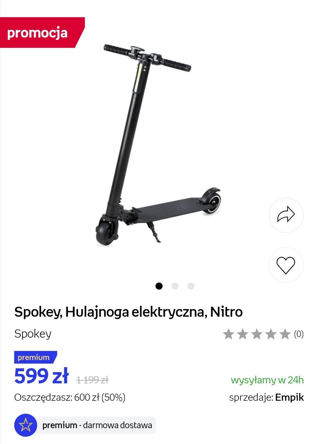 Hulajnoga elektryczna Spokey Nitro  Empik Premium