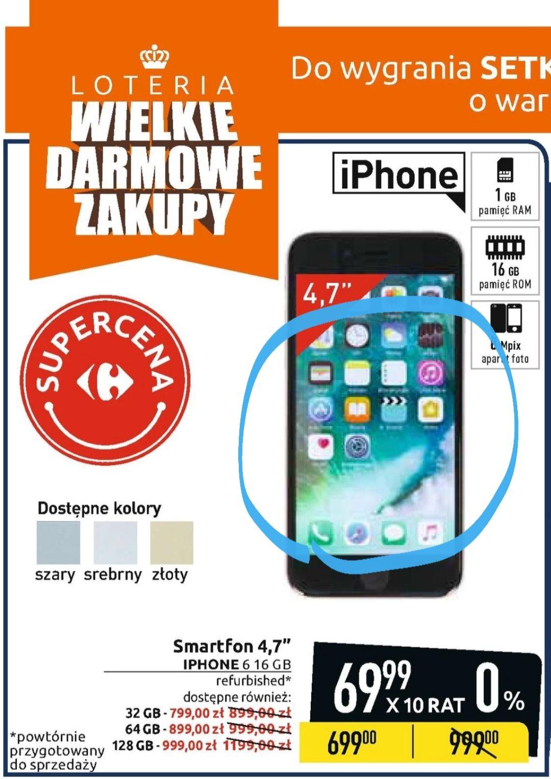 Carrefour: Apple Iphone 6 16GB