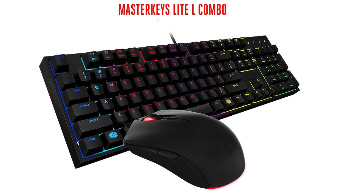 Cooler Master Klawiatura + Mysz MasterKeys Lite L RGB na Alsen