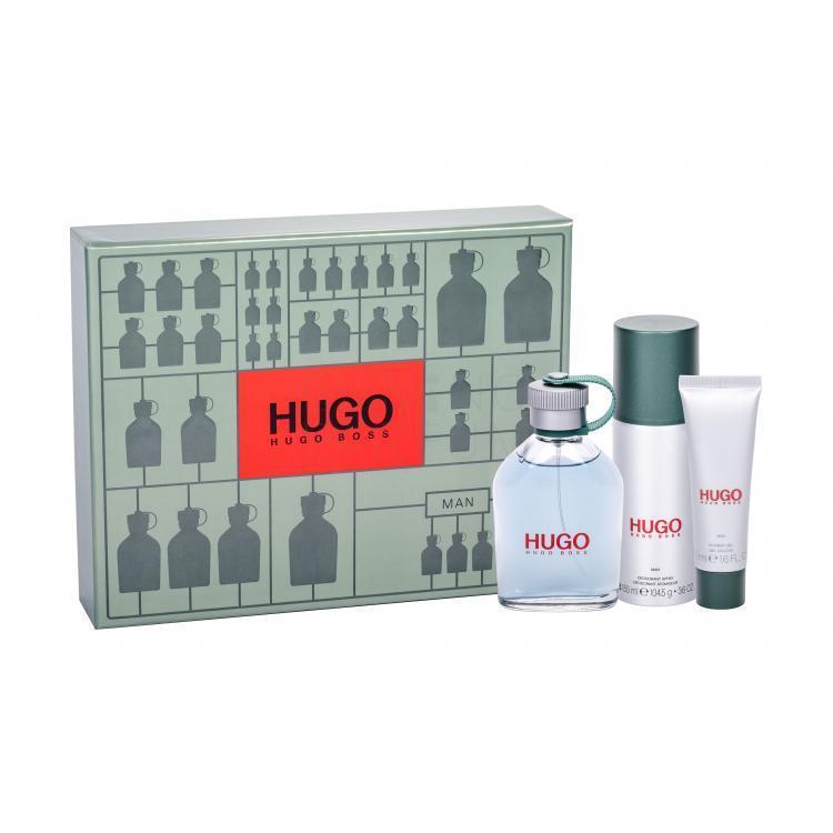 Zestaw dla mężczyzn HUGO BOSS Hugo Man (Edt 125 ml + Dezodorant 150 ml + Żel pod prysznic 50 ml)