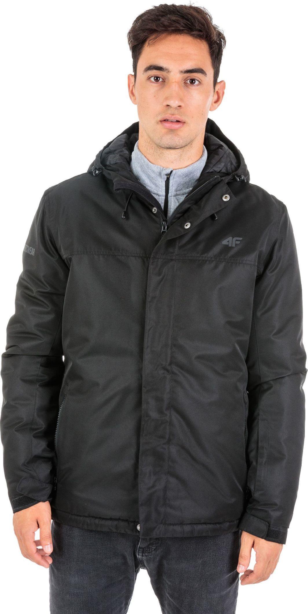Kurtka męska zimowa narciarska 4F H4Z18-KUMN001, czarna, różne rozmiary (też szara KUMN002 za 129,99zł L i M)