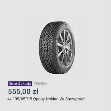 4x 195/65R15 Opony Nokian Wr Snowproof
