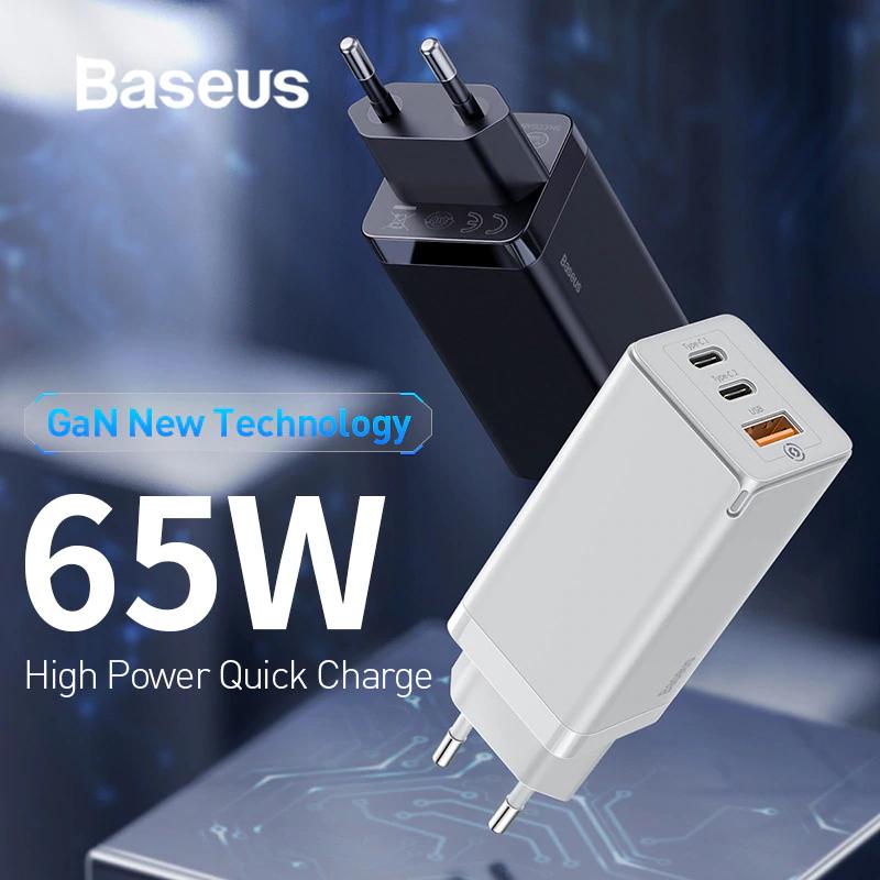 Ładowarka  Baseus GaN 65W High Power PD 3.0. 28,99$ z kuponem sprzedawcy -10$