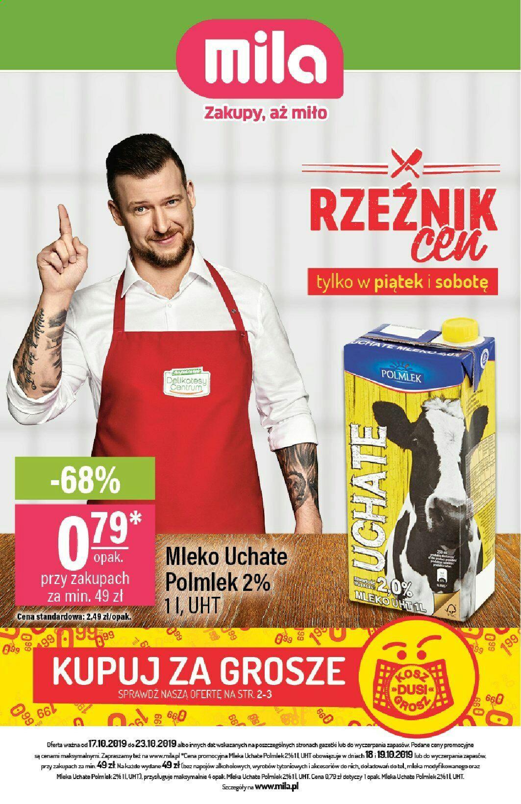 Mleko UHT Polmlek 2% 1l przy zakupach za min 49zł - MILA