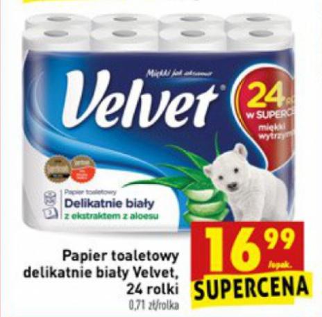 Papier toaletowy Velvet 24 rolki, Biedronka