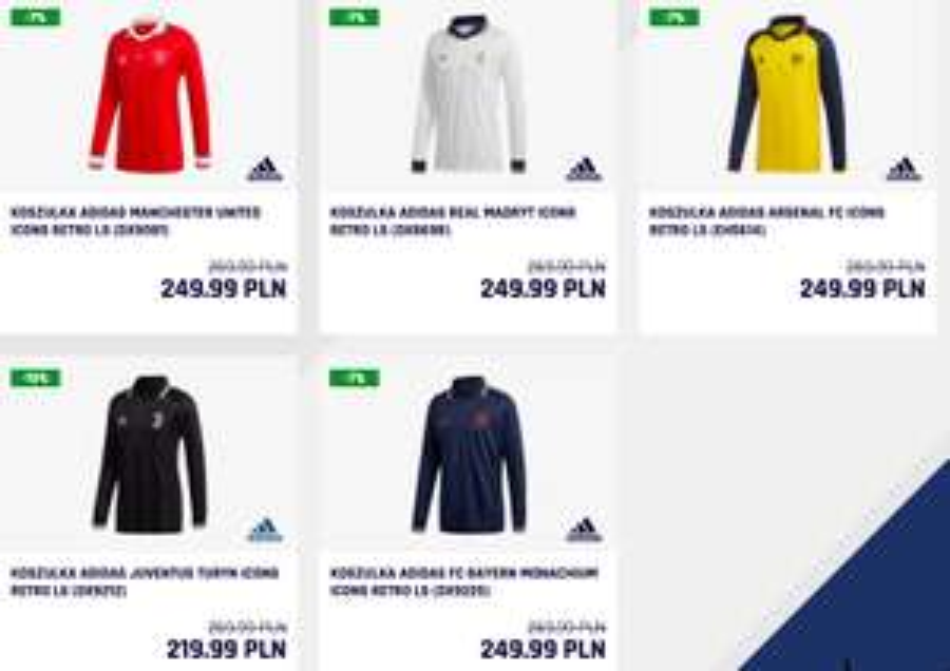 20% rabatu na koszulki piłkarskie w stylu retro (np. Adidas Juventus Retro za 184,99zł)