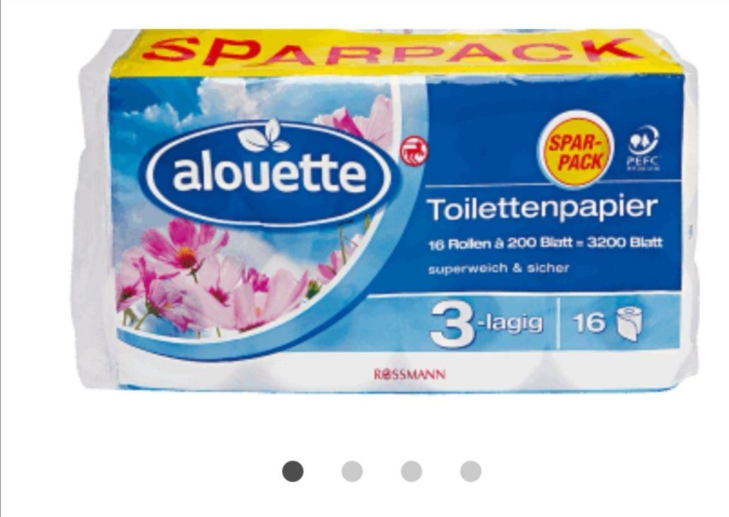 ALOUETTE papier toaletowy 3-warstwowy16 szt. 200 listków  Rossmann