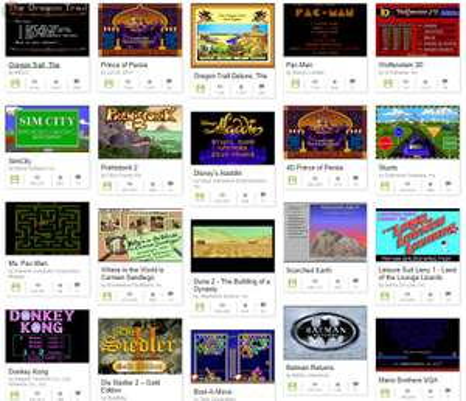 """2500 """"nowych"""" gier MS-DOS za darmo na archive.org"""