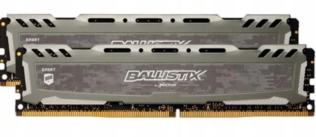 CRUCIAL BALLISTIX LT 2x8GB DDR4 2666Mhz (srebrne i białe)