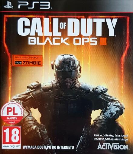 CALL OF DUTY BLACK OPS III 3 + COD BLACK OPS PS3