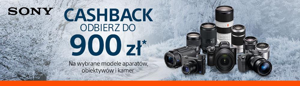 Sony - cashback na aparaty i obiektywy do 900 PLN