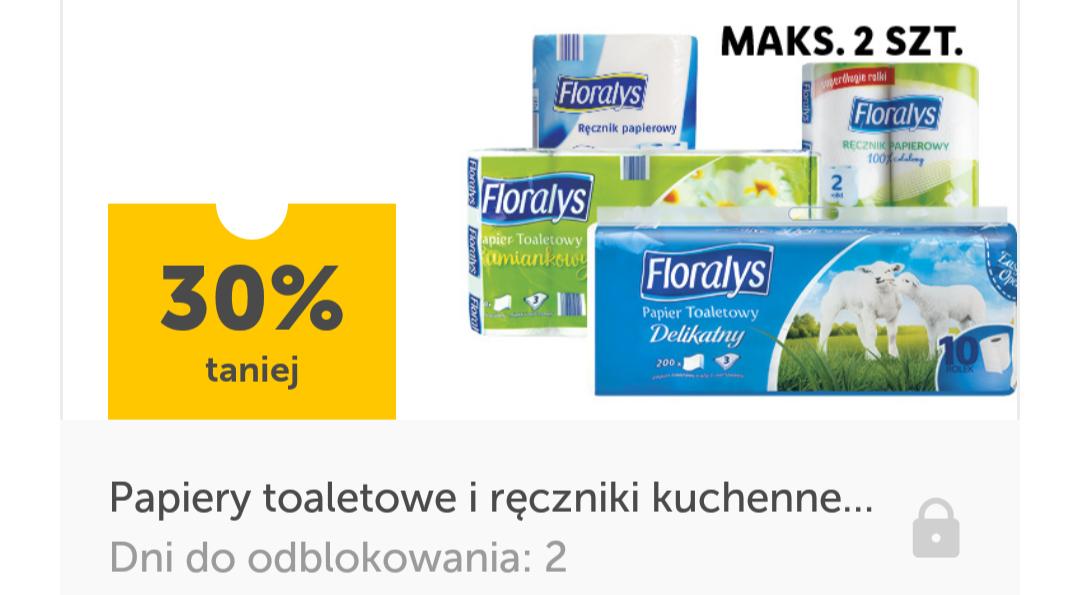 Papiery toaletowe i ręczniki kuchenne Floralys