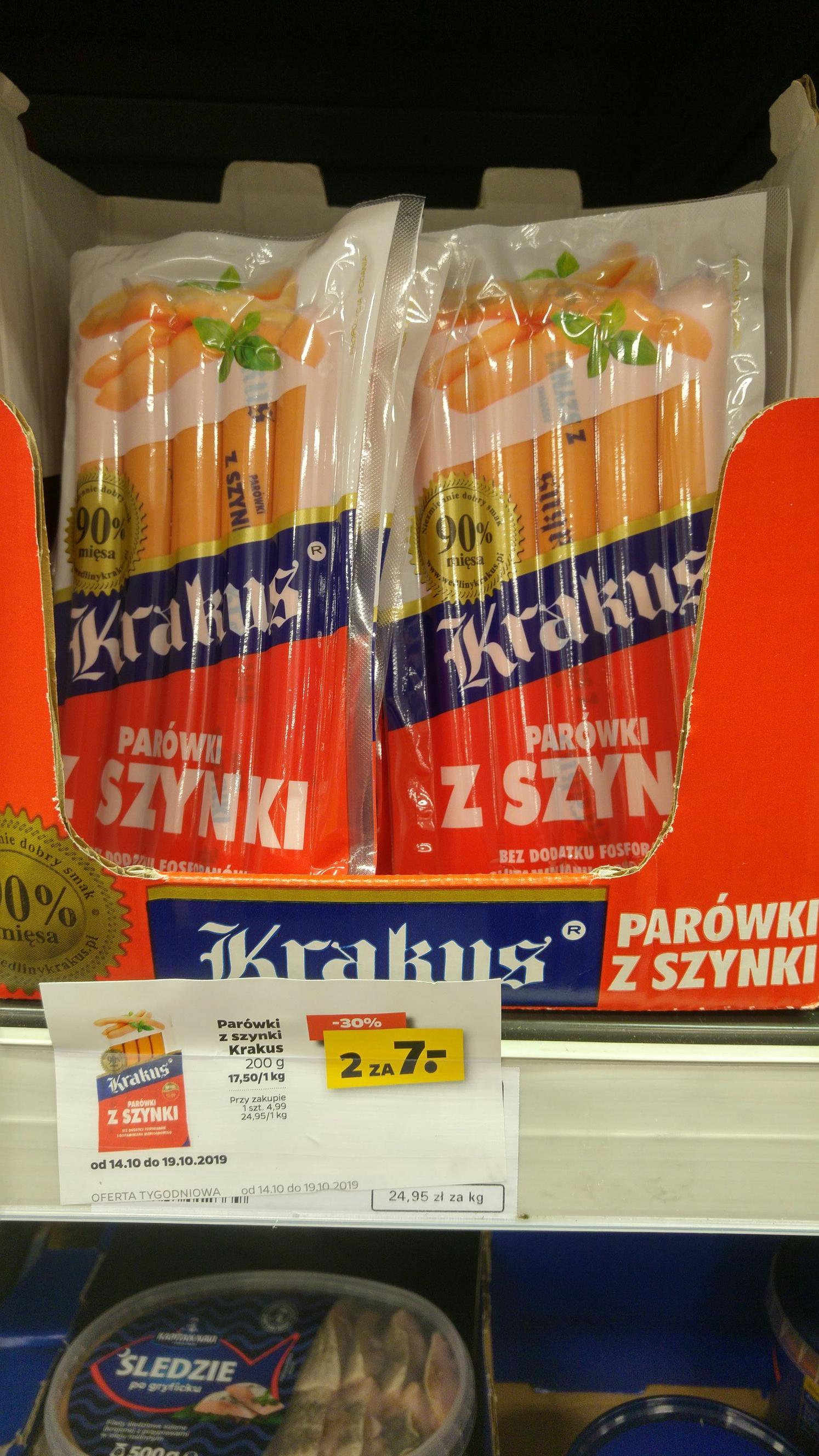 Parówki 90% szynki Krakus@ Netto (Łódź)