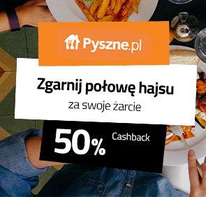 30% cashback (wcześniej 50%) na Planet Plus za zamówienie na Pyszne.pl