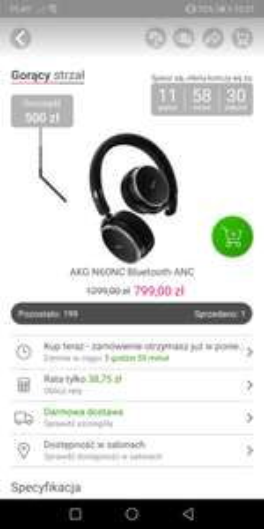 Słuchawki AKG N60NC Bluetooth ANC