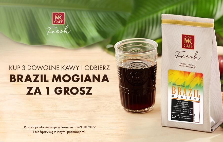 Brazil Mogiana otrzymasz ZA 1 GROSZ przy zakupie dowolnych 3 kaw + kombo zniżek, dostawa i cashback od Goodie (1kg kawy nawet za 33,88 zł!)