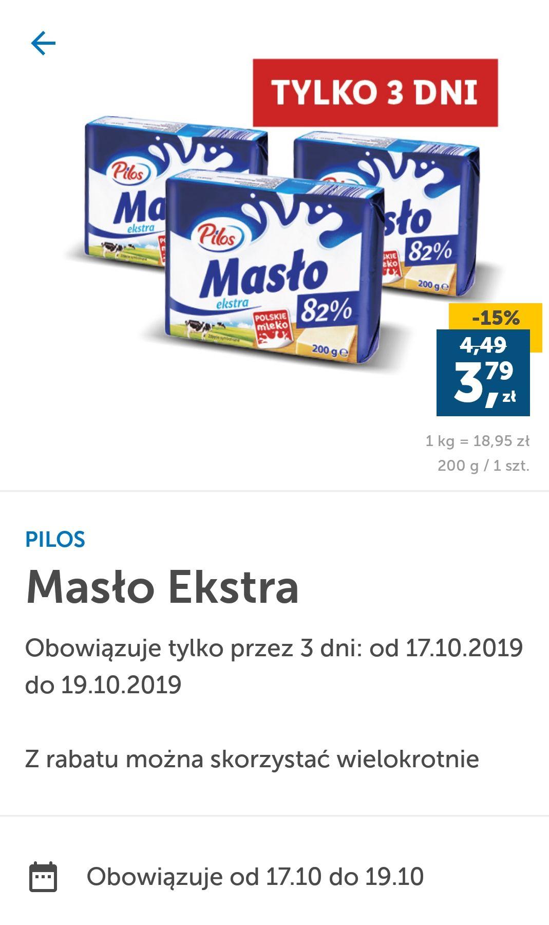 LIDL maslo ekstra PILOS Max 3 szt.