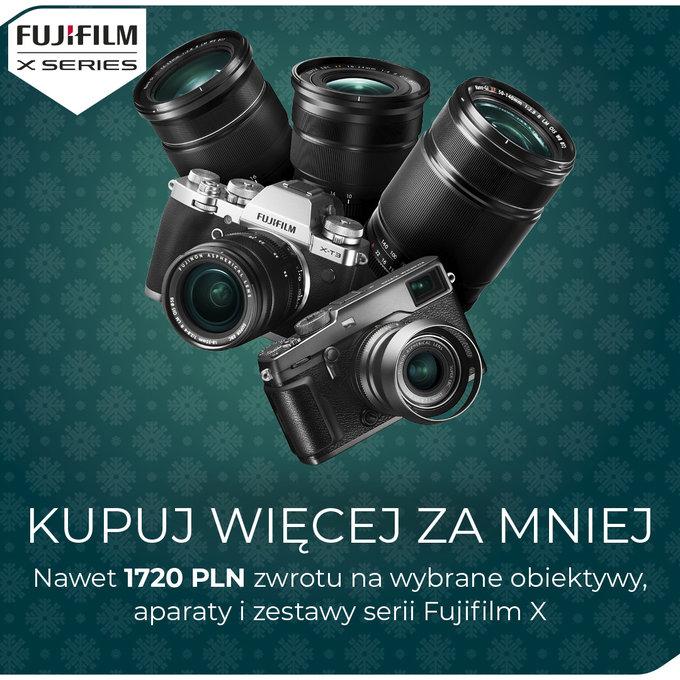 Fujifilm aparaty i obiektywy X CASHBACK