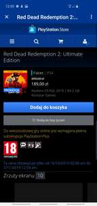 Promocja w PlayStation Store na Red Dead Redemption 2: Ultimate Edition