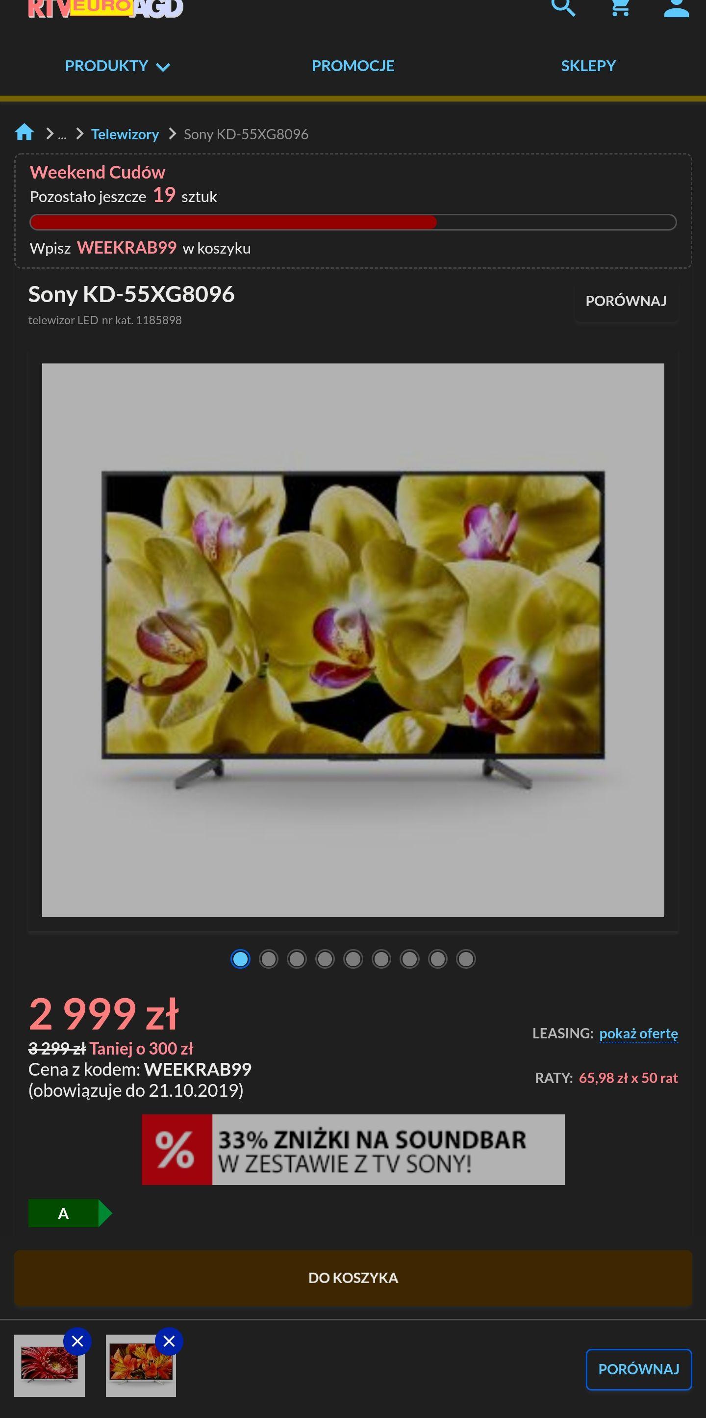 """Sony 55"""" XG8096 Android TV, 4K"""