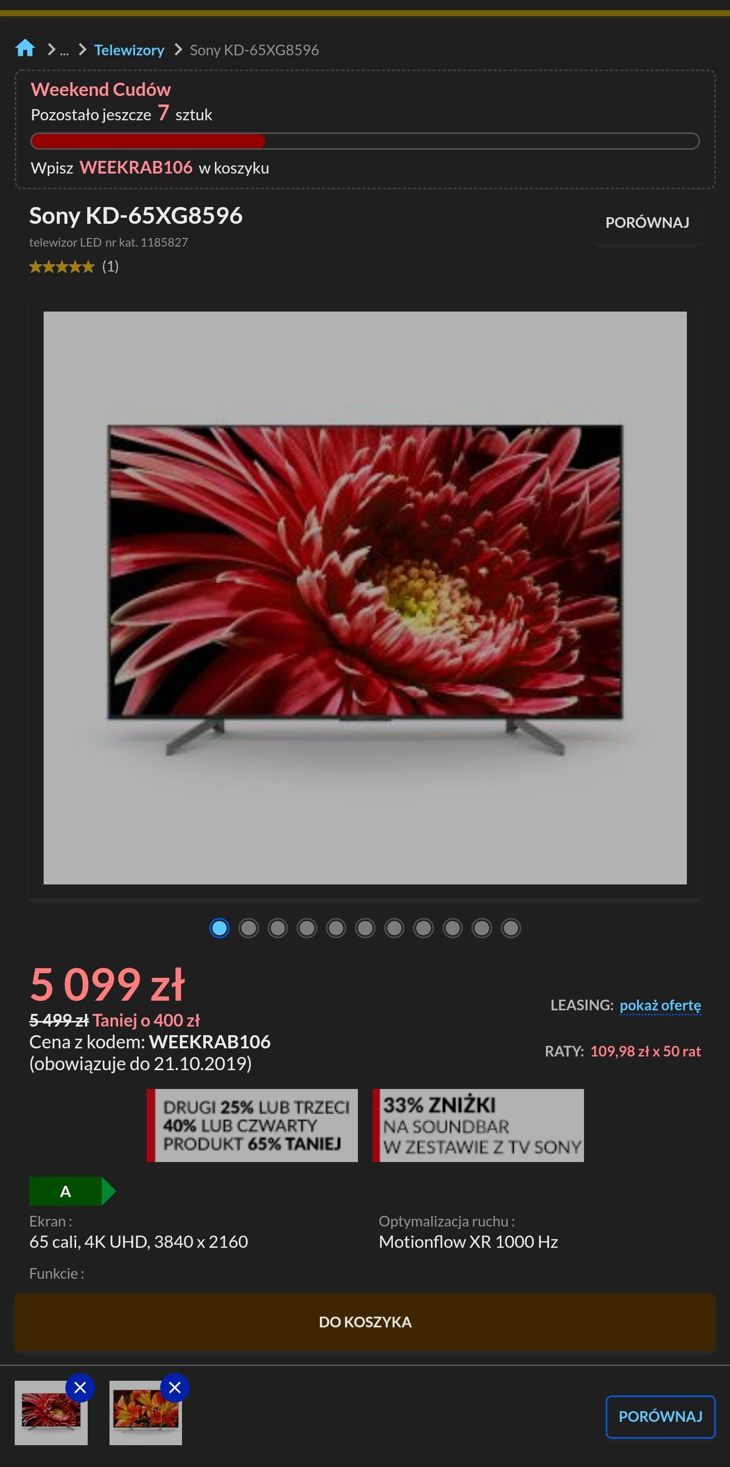 "Sony 65"" XG8596 4k, 100Hz, Android TV"