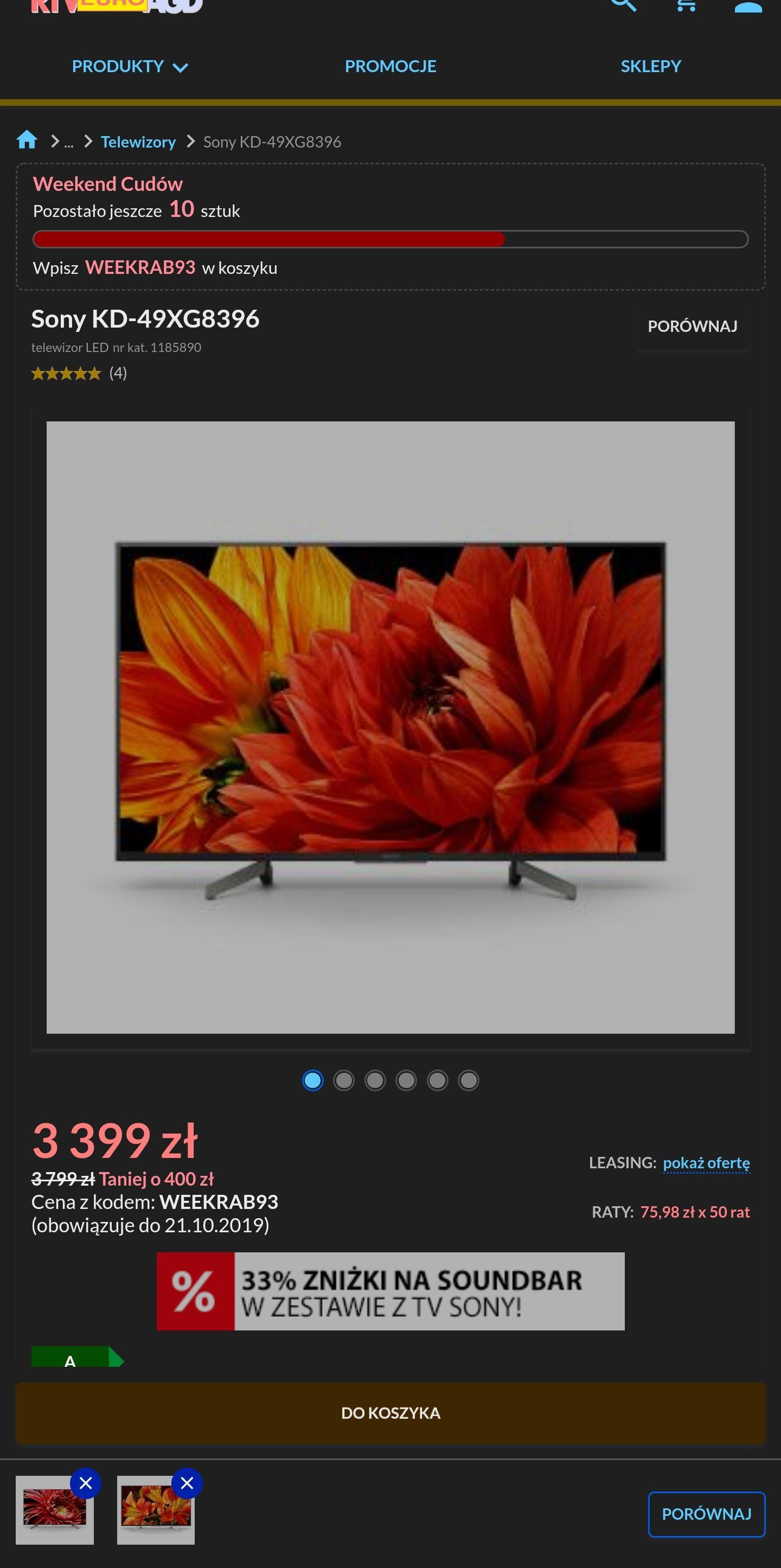 "Sony 49"" XG8396 4k, 100Hz, Android TV"