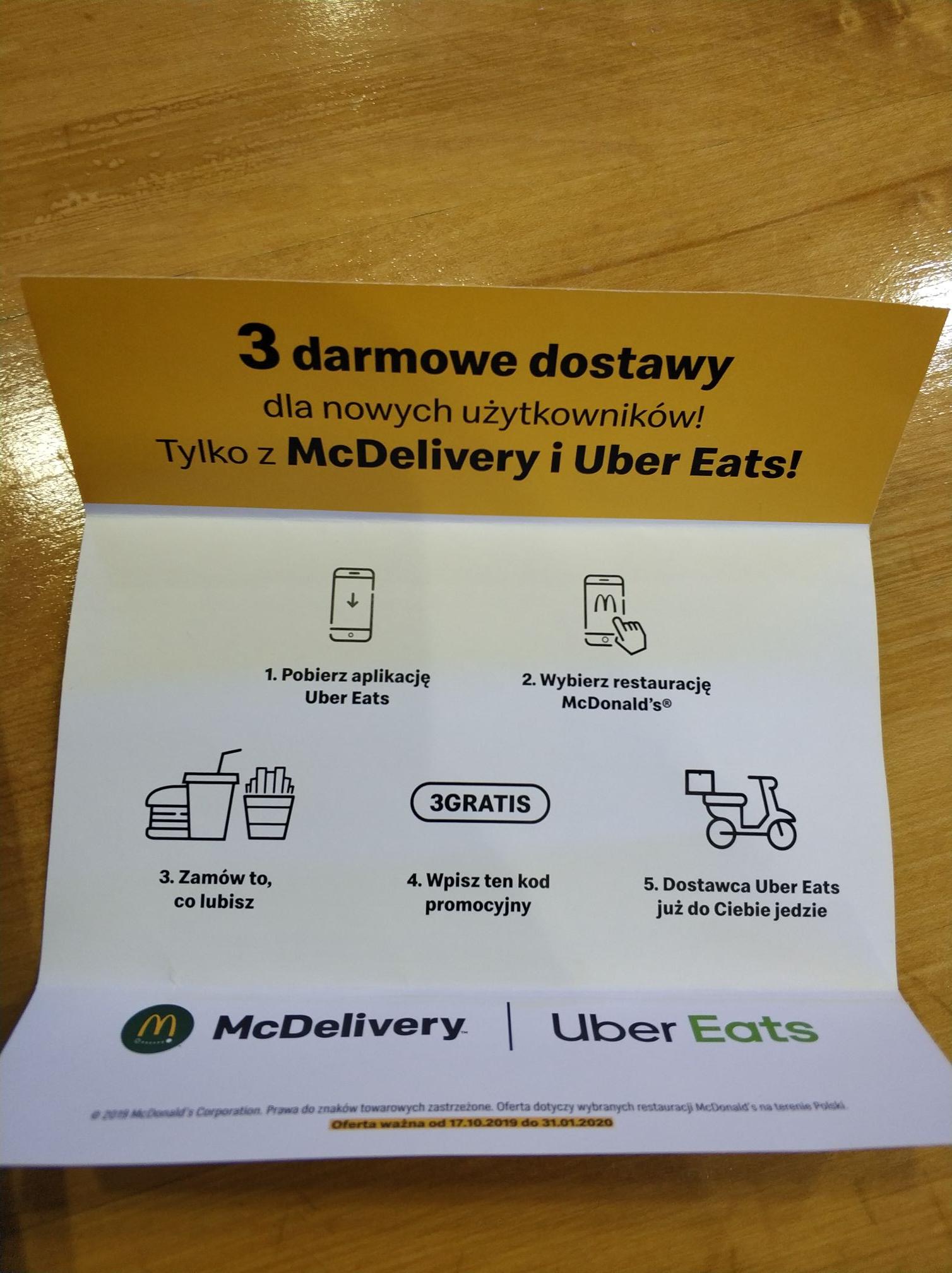 Darmowa dostawa McDelivery