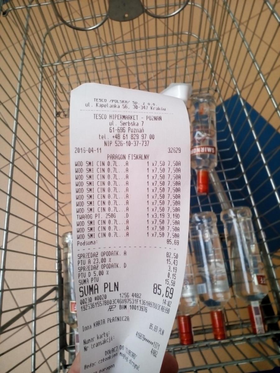 [HIT!] Wódka Smirnoff 0,7L Cynamonowa za 7,50zł/butelka! 85% taniej! @ Tesco Extra