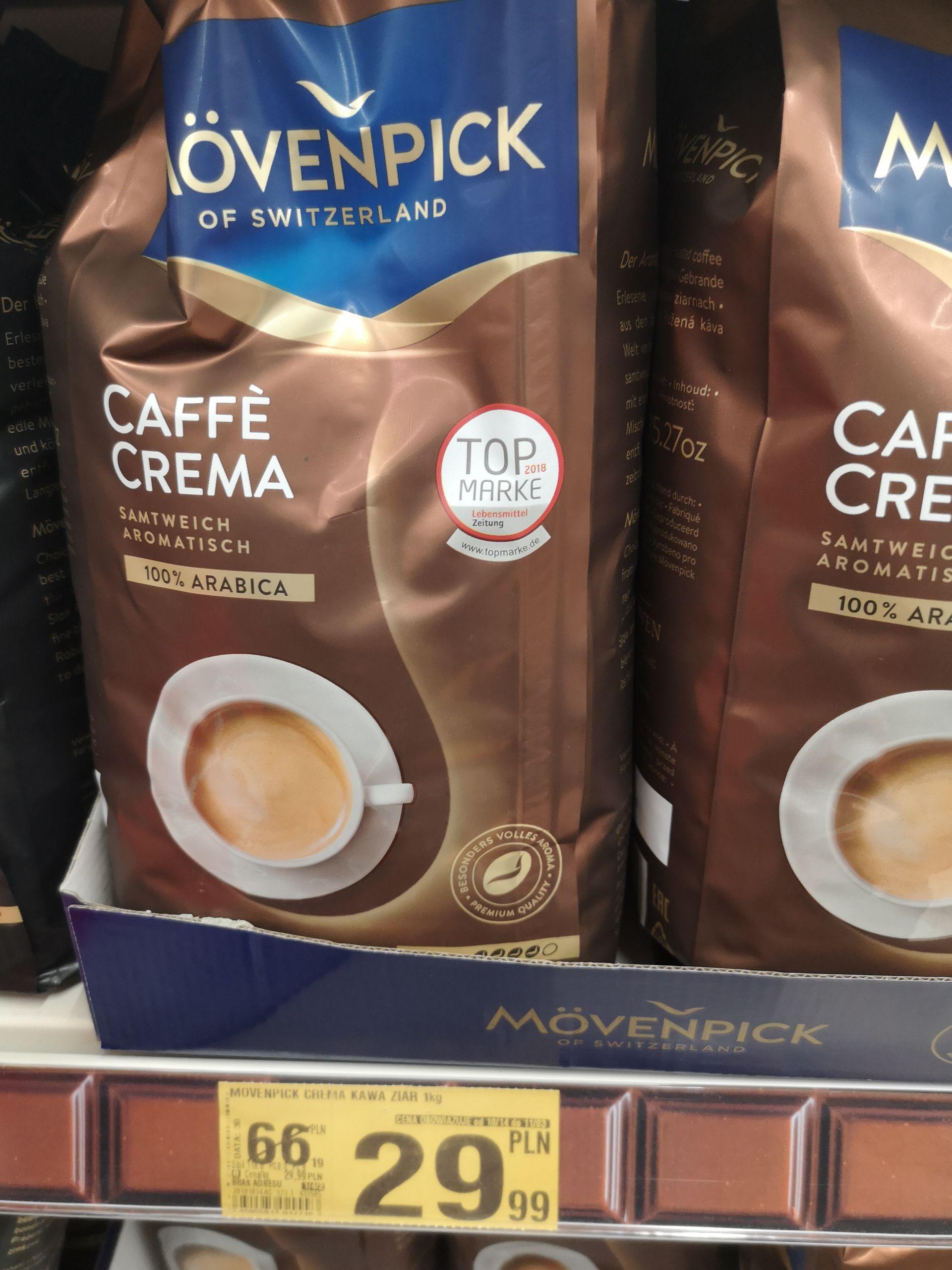 Auchan / Kawa ziarnista Movenpick Espresso oraz Caffe Crema 1kg
