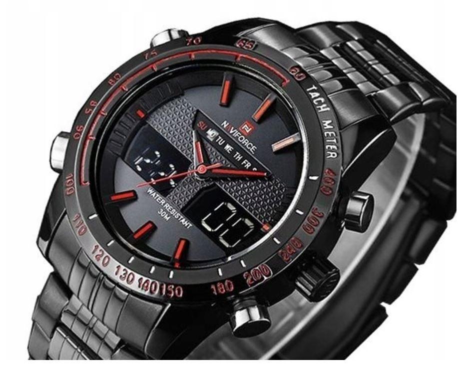 Zegarek NAVIFORCE CONVAIR DUAL TIME ZN014F elektroniczno-analogowy