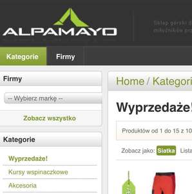 Sprzęt turystyczny, wspinaczkowy, campingowy - obniżki do 50% @ Alpamayo