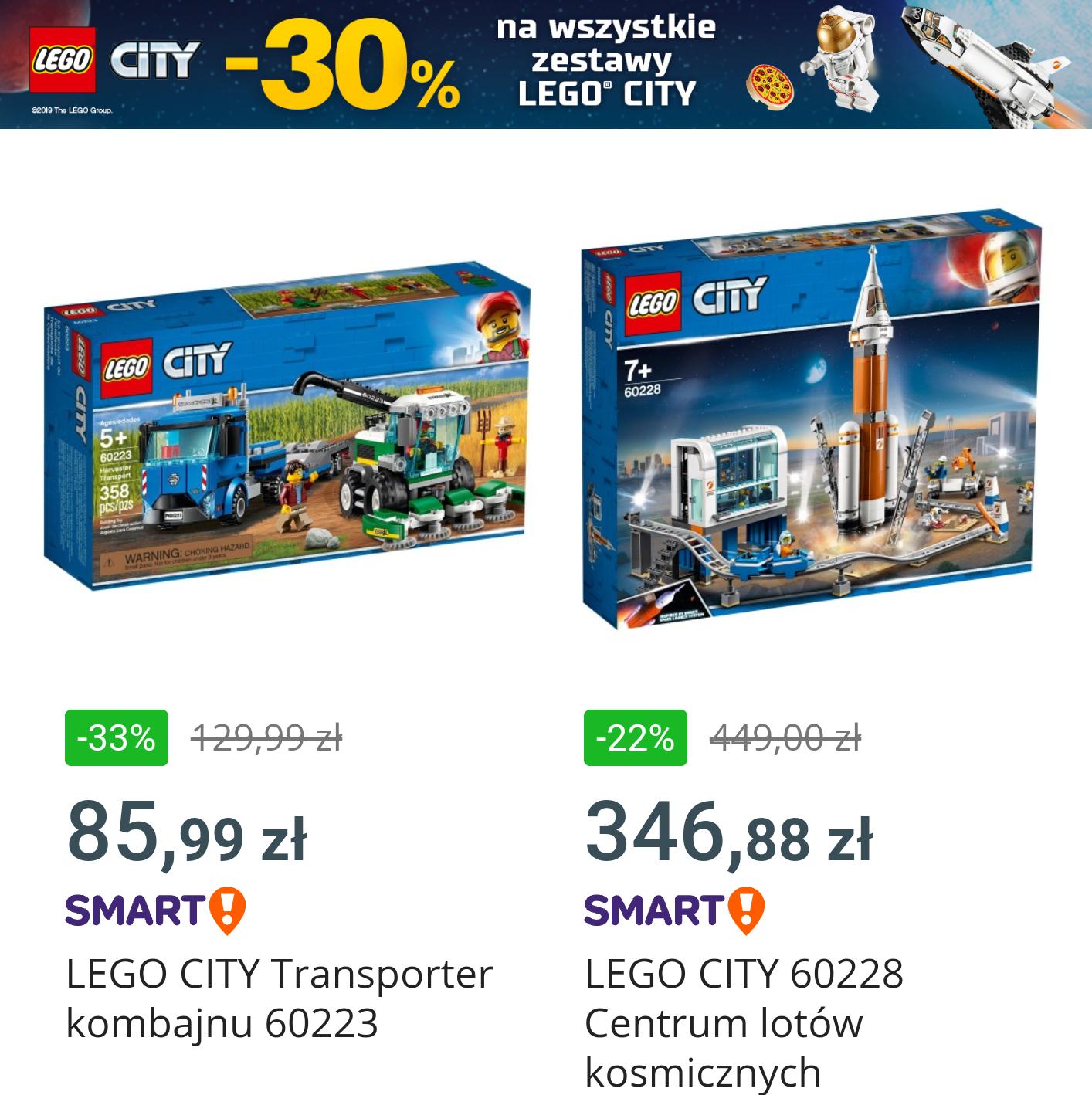 -30% na wszystkie zestawy Lego City - Allegro