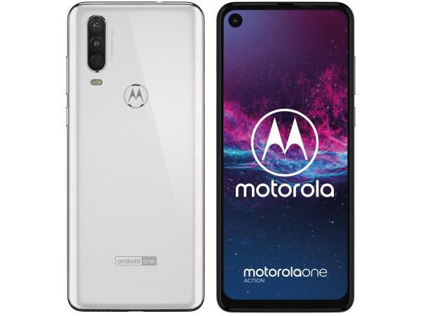 Smartfon Motorola One Action 4/128 Biały lub Szary, Polska dystrybucja, najniższa cena w historii