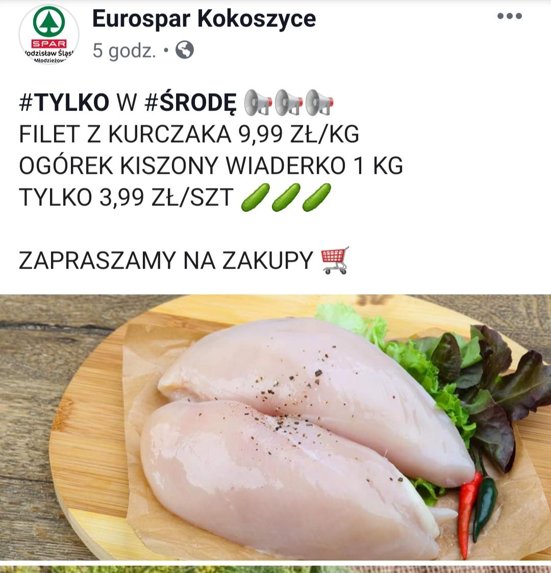 Spar Wodzisław Śląski i Pszów piersi z kurczaka 9.99 zł za kg