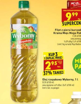 Olej rzepakowy Wyborny - Biedronka