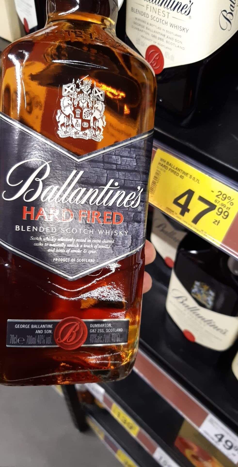 Whisky ballantine's  ( Ballantines ) hard fired