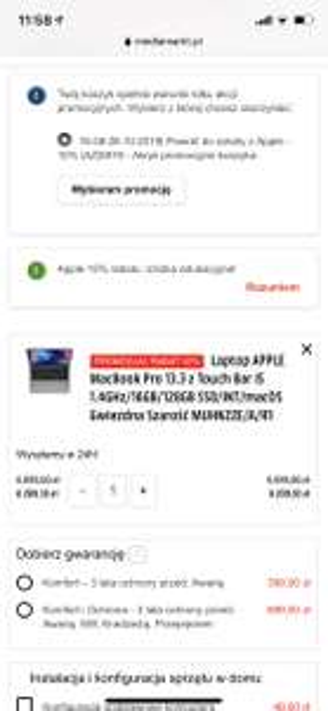 MacBook Pro 2019 z 16GB ram za 6200zl w Media Markt