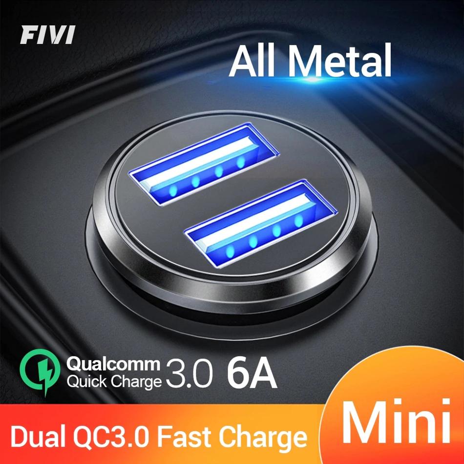 FIVI podwójna ładowarka samochodowa QC 3.0 USB