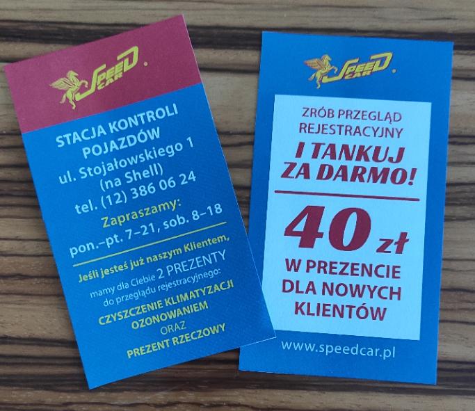 40 zł w prezencie za badanie techniczne w Krakowie