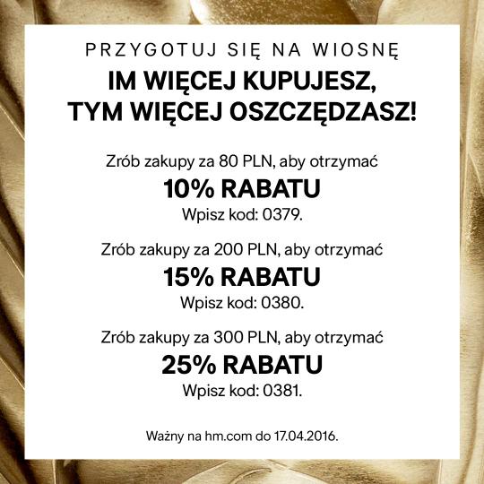 H&M zaplac do 25% taniej kody rabatowe