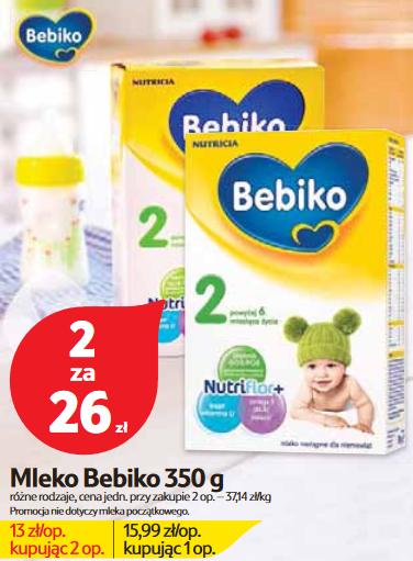 Mleko Bebiko 350g, 2 opakowania za 26zł @ Tesco