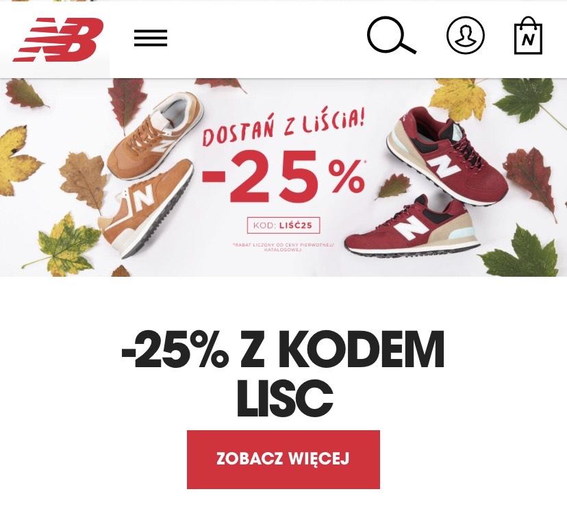 -25% na wszystko w New Balance